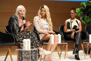 (L-R) Vera Papisova, Munroe Bergdorf and Chirlane McCray speak onstage during the Teen Vogue Summit 2018: #TurnUp - Day 1 at The New School on June 1, 2018 in New York City.