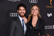 Darren Criss and Mia Swier attend Television Academy Honors Emmy Nominated Performers - Arrivals at Wallis Annenberg Center for the Performing Arts on September 15, 2018 in Beverly Hills, California.