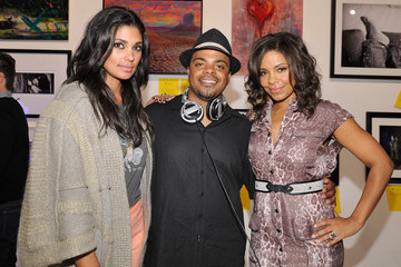 Tendaji Lathan The Second Annual Art Mere/Art Pere Night Presented By CORZO Tequila - Inside