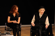 Director Jodie Markell and actress Elaine Stritch speak on the Tennessee Williams on Screen and Stage panel discussion at The Times Center on December 9, 2009 in New York City.