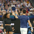 Serena Williams and Novak Djokovic Photos