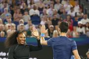 Serena Williams and Novak Djokovic Photos Photo