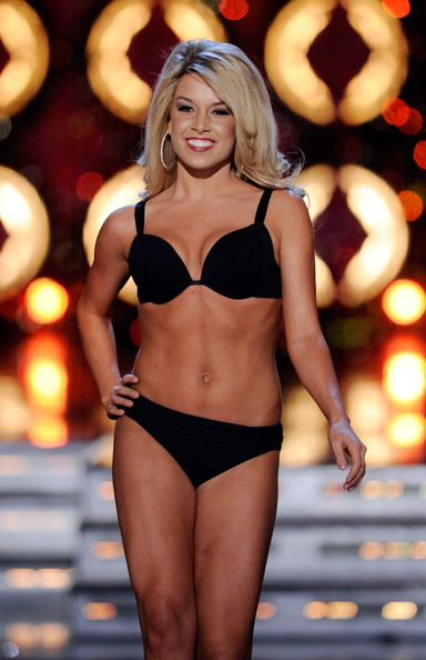 Teresa Scanlan Teresa Scanlan, Miss Nebraska, competes in the swimsuit