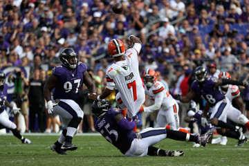 Terrell Suggs Cleveland Browns vBaltimore Ravens