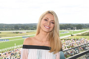 Tess Daly at Ascot Racecourse's Summer Mile Family Raceday for the launch of Great British Racing's 'Under 18's Race Free' Campaign at Ascot Racecourse on July 13, 2019 in Ascot, England.
