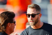 Head coach Mike Gundy of the Oklahoma State Cowboys shakes hands with head Coach Kliff Kingsbury of the Texas Tech Red Raiders before a game on September 22, 2018 at Boone Pickens Stadium in Stillwater, Oklahoma.  Texas Tech won 41-17.
