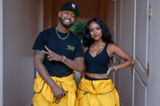 """Terrence J and Karrueche Tran attend the Teyana Taylor """"The Album"""" Listening Party on June 17, 2020 in Beverly Hills, California."""