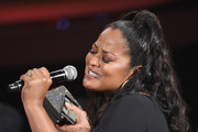 Former boxer Laila Ali speaks from the audience at The 2018 ESPYS at Microsoft Theater on July 18, 2018 in Los Angeles, California.