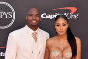 Adrian Peterson (L) and Ashley Brown Peterson attend The 2019 ESPYs at Microsoft Theater on July 10, 2019 in Los Angeles, California.