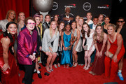 Billie Jean King and Bill Russell with members of the United States Women's National Soccer Team, winners of the Best Team award, pose during The 2019 ESPYs at Microsoft Theater on July 10, 2019 in Los Angeles, California.
