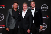 (L-R) Patrick Mahomes, Eric Dane, and Jared Goff attend The 2019 ESPYs at Microsoft Theater on July 10, 2019 in Los Angeles, California.