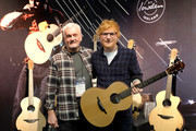 George Lowden and Ed Sheeran pose in the Lowden booth at the 2019 NAMM Show opening day at the Anaheim Convention Center on January 24, 2019 in Anaheim, California.