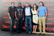 "(L to R) Sharlto Copley, Quinton Rampage Jackson, director Joe Carnahan, Jessica Biel and Bradley Cooper attend ""The A-Team"" photocall at ME Hotel on July 26, 2010 in Madrid, Spain."