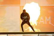 *** EDITORIAL USE ONLY IN RELATION TO THE BRIT AWARDS 2018 *** Kendrick Lamar performs at The BRIT Awards 2018 held at The O2 Arena on February 21, 2018 in London, England.