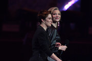 Vicky McClure and Natalie Dormer onstage during The BRIT Awards 2019 held at The O2 Arena on February 20, 2019 in London, England.