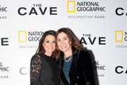 (L-R) President of National Geographic Global Television Networks Courteney Monroe and Executive Vice President, Global Scripted Content and Documentary films, National Geographic,  Carolyn Bernstein attend The Cave Screening + Q&A at Picturehouse Central on December 04, 2019 in London, England.
