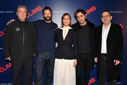 """Tom Bernard, Kyle Marvin, Judith Godrèche, Michael Angelo Covino and Michael Barker attend the screening of """"The Climb"""" at iPic Theater on March 12, 2020 in New York City."""