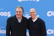 """Jim Gianopulos (L) and Jeffrey Katzenberg attend """"The Croods"""" premiere at AMC Loews Lincoln Square 13 theater on March 10, 2013 in New York City."""