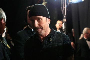 The Edge Backstage at the 86th Annual Academy Awards