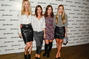 (L-R) Poppy Delevigne, Ursula Corbero, Atlanta de Cadenet and Harley Viera-Newton poses during a photocall for 'The Event Paper' party by Stradivarius on October 8, 2014 in Barcelona, Spain.