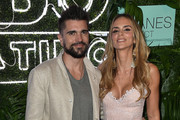 Juanes and his wife Karen Martinez are seen at the premiere of 'The Juanes Effect' at Faena Forum on May 18, 2017 in Miami Beach, Florida.