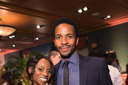 """TV personality Delaina Dixon and actor Andre Holland attend the Cinemax screening, panel and reception for """"The Knick"""" on July 23, 2014 in New York City."""