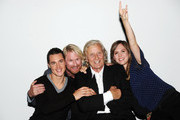 """Alexander Dreymond, Rutger Hauer, Rune Temte and Emily Cox attend a photocall for """"The Last Kingdom"""" at Charlotte Street Hotel on September 8, 2015 in London, England."""