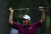 Fred Couples looks on during a practice round prior to the start of the 2012 Masters Tournament at Augusta National Golf Club on April 3, 2012 in Augusta, Georgia.