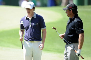 Rory McIlroy Graeme McDowell The Masters - Preview Day Two