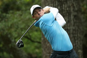 Rory McIlroy of Northern Ireland plays his shot from the second tee during the third round of the 2018 Masters Tournament at Augusta National Golf Club on April 7, 2018 in Augusta, Georgia.