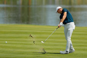 Jordan Spieth of the United States plays a shot on the seventh hole  during the final round of The Northern Trust at Liberty National Golf Club on August 11, 2019 in Jersey City, New Jersey.