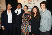 """(L-R) Tim Griffin, M. Night Shyamalan, Carla Gugino, Sarah Jeffery and Charlie Tahan attend the New York premiere of """"The Visit"""" at Regal Cinemas Union Square on September 8, 2015 in New York City."""