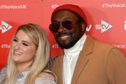 Meghan Trainor and Will.i.am  attend The Voice UK 2019 photocall at The Soho Hotel on December 16, 2019 in London, England.