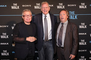 """(L-R) Daniel Libeskind, Director Robert Zemeckis and Rich Gelfond attend """"The Walk"""" special screening in IMAX 3D at AMC Lincoln Square Theater on September 28, 2015 in New York City."""