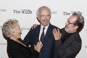 """Glenn Close, Jonathan Pryce and Bjorn Runge attend the New York Screening of """"The Wife"""" at The Paley Center for Media on July 26, 2018 in New York City."""