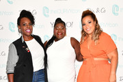 theCURVYcon co-founder Cece Olisa, Gabourey Sidibe, and theCURVYcon co-founder Chastity Garner Valentine attend theCURVYcon Powered By Dia&Co on September 8, 2018 in New York City.