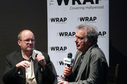 Moderator Steve Pond (L) and director Stephen Frears attends TheWrap's Awards & Foreign Screening Series - 'Philomena' at the Landmark Theater on December 18, 2013 in Los Angeles, California.