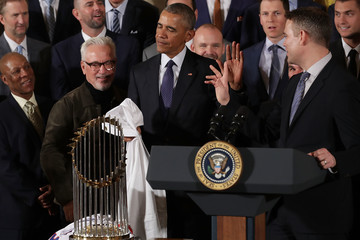Theo Epstein President Obama Welcomes World Series Champion Chicago Cubs To White House
