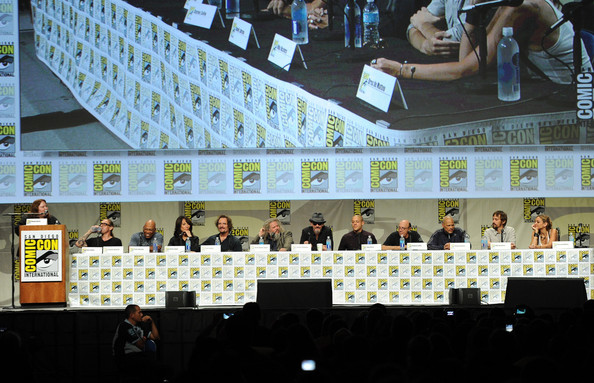 'Sons of Anarchy' Panel at Comic-Con [sons of anarchy,table,event,games,paris barclay,kurt sutter,creator,actors,l-r,panel,fx,panel,comic-con international]