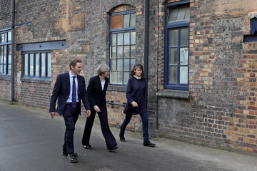 Theresa May Theresa May Visits Stoke-On-Trent Central Ahead Of Thursday's By-election
