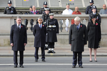 Theresa May Sadiq Khan National Service Of Remembrance At The Cenotaph