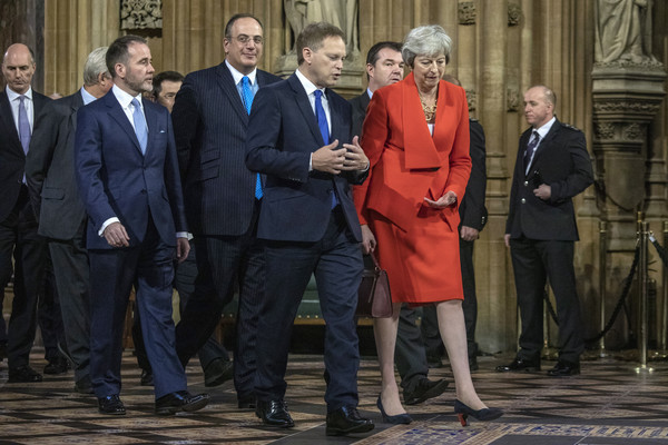 State Opening Of Parliament [laws,social group,suit,event,official,white-collar worker,theresa may,queen,grant schapps,plans,england,london,palace of westminster,state opening of parliament,speech]