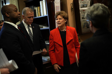 Thom Tillis Sen. Jeanne Shaheen (D-NH) Holds News Conference on the U.S. Olympics Investigation
