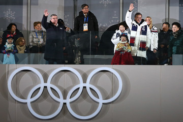 Thomas Bach Moon Jae-In 2018 Winter Olympic Games - Closing Ceremony