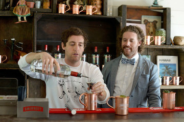 Thomas Middleditch TJ Miller And Thomas Middleditch Celebrate First Official National Moscow Mule Day Created By SMIRNOFF