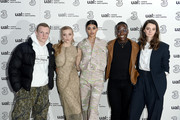 (L-R) Patrick Gibson, Natalie Dormer, Neelam Gill, Ncuti Gatawa and Tanya Reynolds attend the Three Fashion Fuelled by 5G After Party following the Central St Martins MA Show  during London Fashion Week at Central St Martins on February 15, 2019 in London, England.