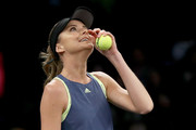 Daniela Hantuchova of Slovakia watches the player challenge during the Tie Break Tens at Madison Square Garden on March 5, 2018 in New York City.