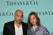 Max Osterweis and Erin Beatty attend the Tiffany Debut of the 2014 Blue Book on April 10, 2014 at the Guggenheim Museum in New York, United States.