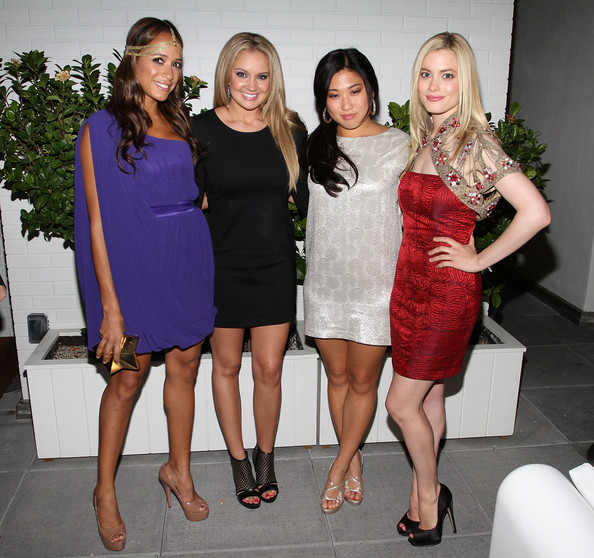 Tiffany Thornton Dania Ramirez, Tiffany Thornton, Jenna Ushkowitz and Gillian Jacob attends the Caravan celebration of Fashion's Night Out at Sky Room on September 10, 2010 in New York City.