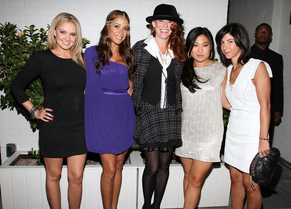 Tiffany Thornton Tiffany Thornton, Dania Ramirez, Peggy Millard, Jenna Ushkowitz and Claudine DeSola attends the Caravan celebration of Fashion's Night Out at Sky Room on September 10, 2010 in New York City.